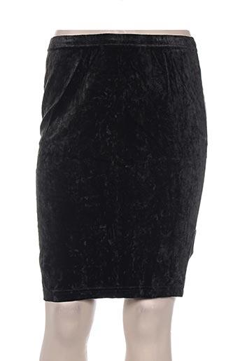 Jupe mi-longue noir DIAPOSITIVE pour femme