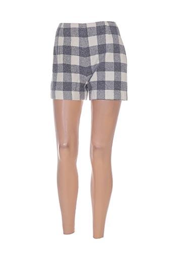 diapositive shorts / bermudas femme de couleur gris
