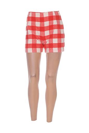 diapositive shorts / bermudas femme de couleur orange