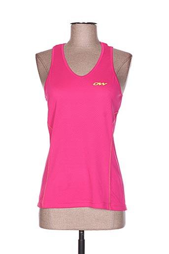 one way t-shirts femme de couleur rose