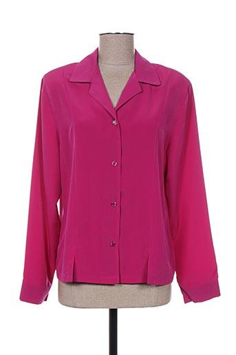 plurielles chemises femme de couleur rose