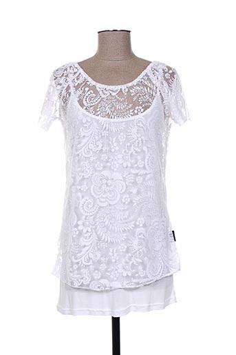 capuccino chemises femme de couleur blanc