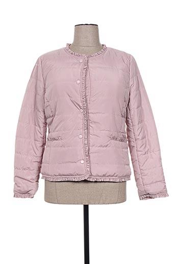 escandelle manteaux femme de couleur rose