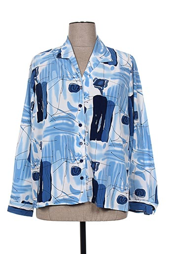 plurielles chemises femme de couleur bleu