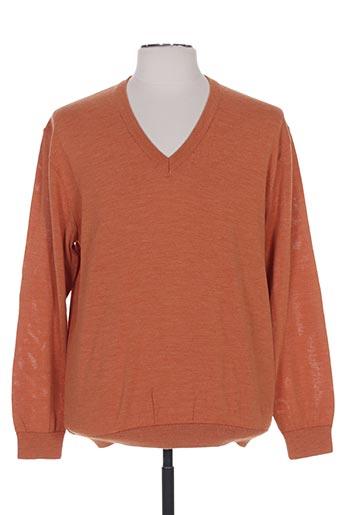 henry & juliette pulls homme de couleur orange