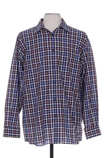 belloni chemises homme de couleur bleu
