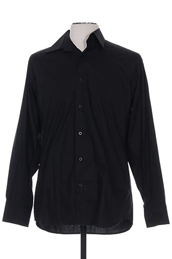Chemise manches longues noir ALLONA pour homme