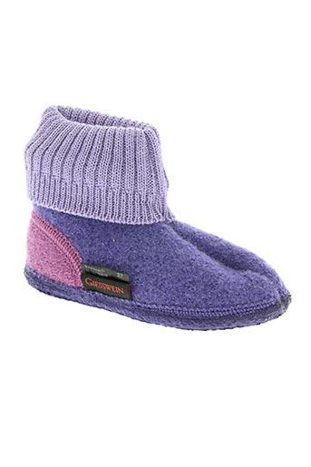 giesswein chaussures enfant de couleur violet