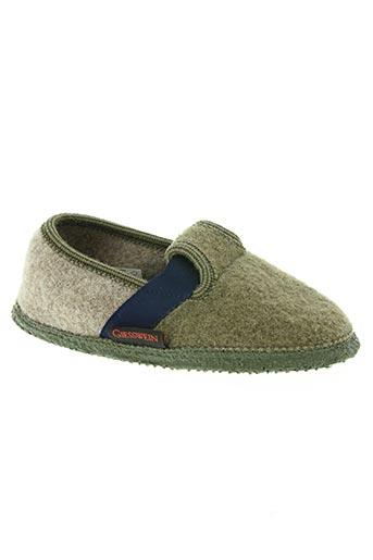 giesswein chaussures garçon de couleur vert