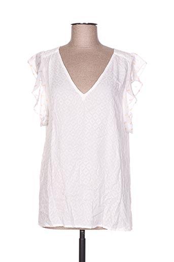 charlise chemises femme de couleur blanc