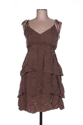 Robe courte marron ONE STEP pour femme