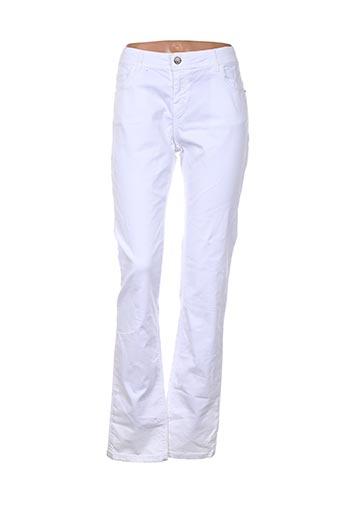 chipie jeans femme de couleur blanc