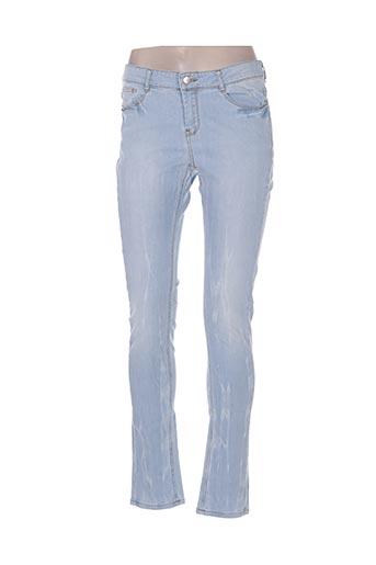 friday jeans femme de couleur bleu