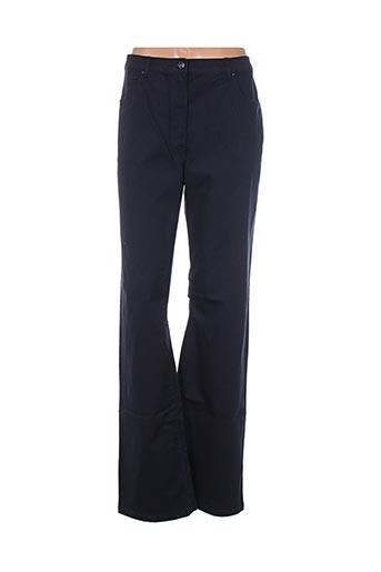 Pantalon casual bleu D'AUVRY pour femme