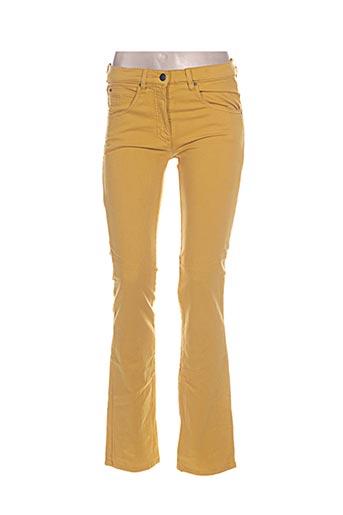 natan jeans femme de couleur jaune