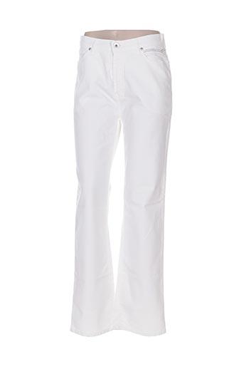 #red/legend pantalons femme de couleur blanc