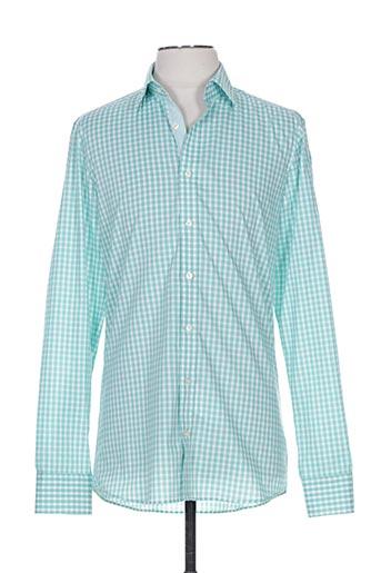 marvelis chemises homme de couleur vert