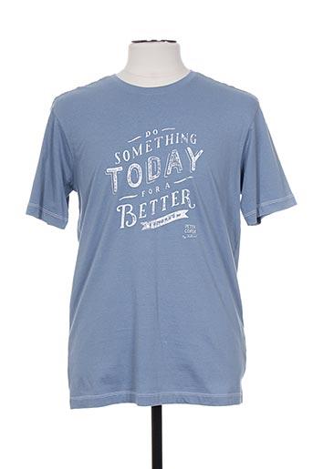 peter cofox t-shirts homme de couleur bleu