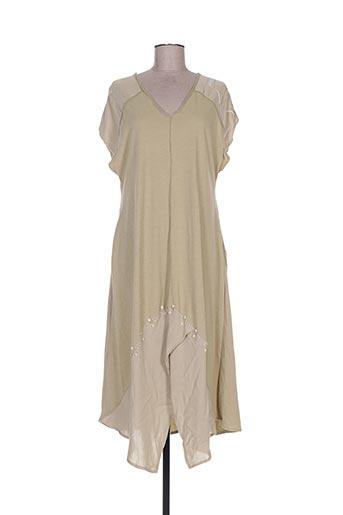 Robe longue beige BATISTAME pour femme