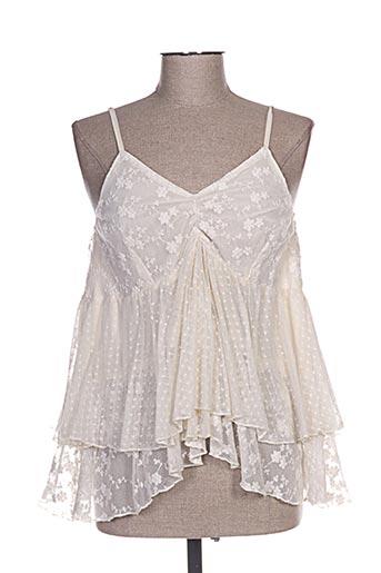 rhum raisin chemises femme de couleur beige