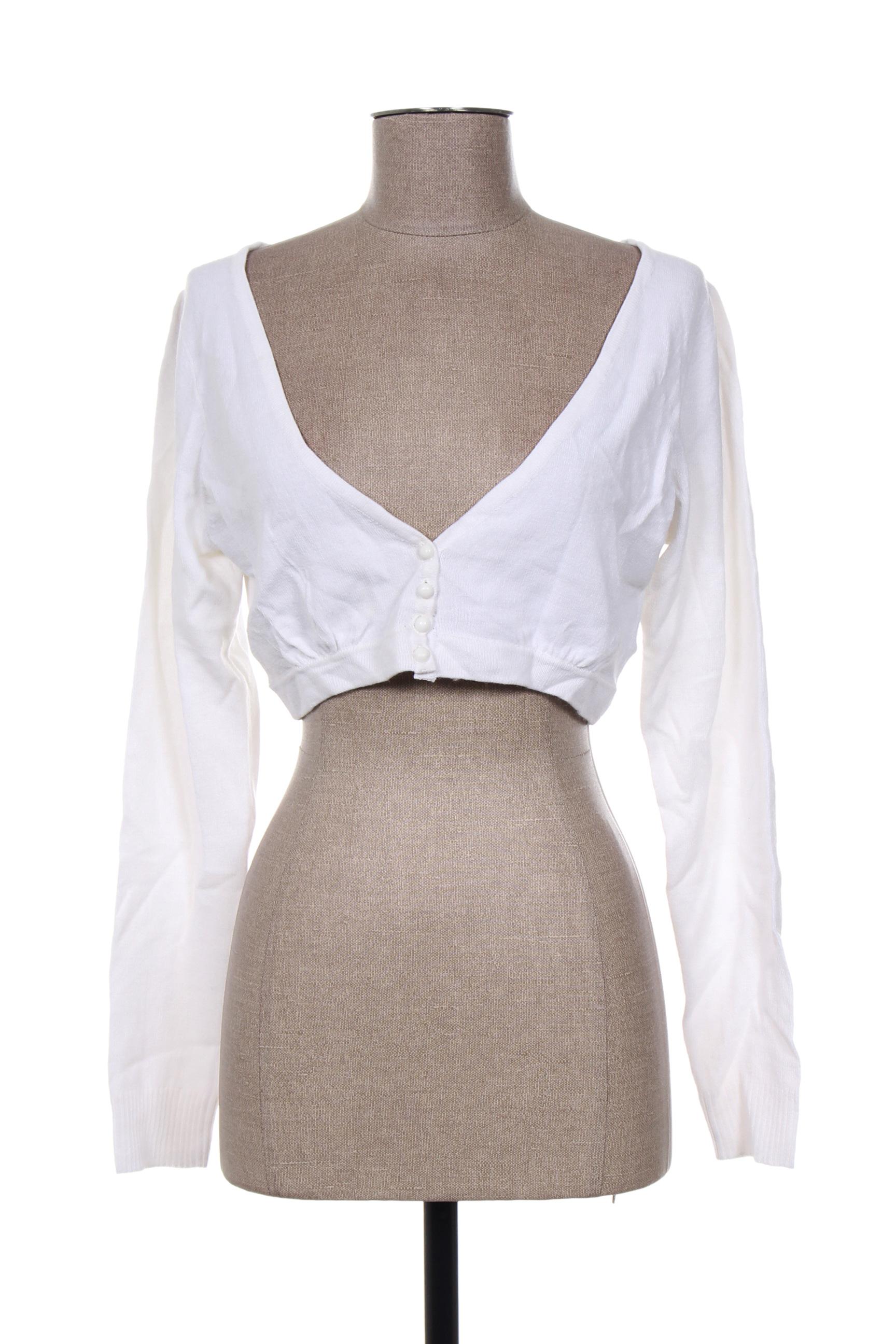 3 Suisses Cardigans Femme De Couleur Blanc 3O9Sl