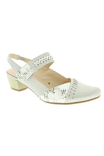 fugitive chaussures femme de couleur gris
