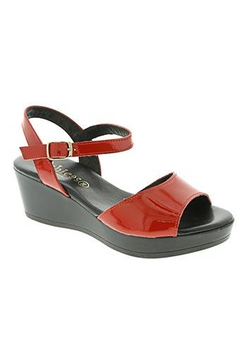 d'chicas chaussures femme de couleur rouge