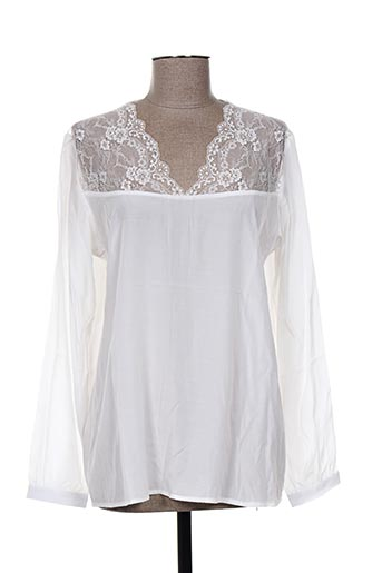 nü chemises femme de couleur blanc