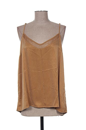 yaya chemises femme de couleur marron