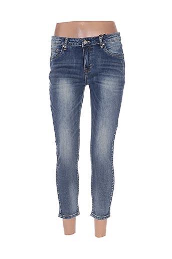 chattawak jeans femme de couleur bleu
