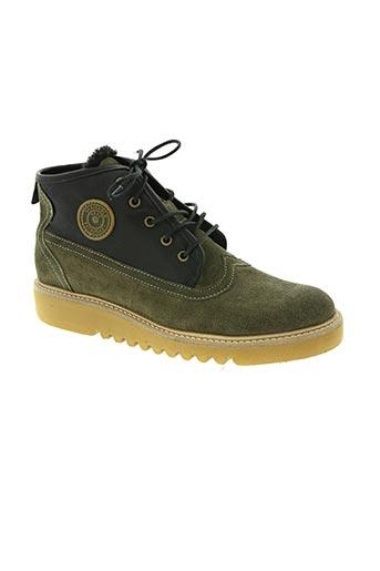 pataugas chaussures homme de couleur vert