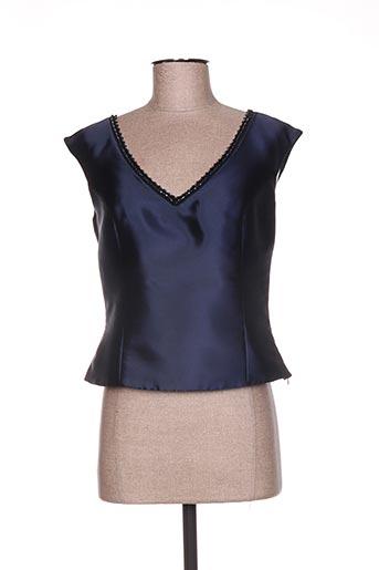 linea raffaelli chemises femme de couleur bleu
