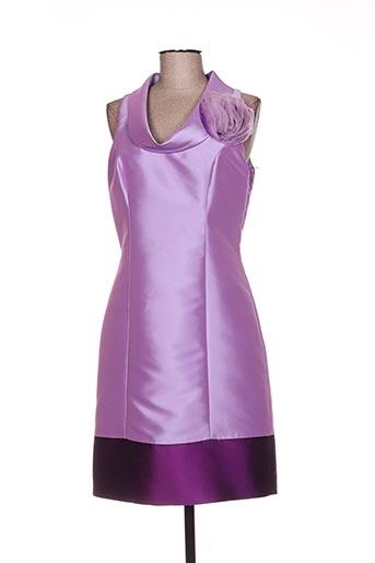 Robe courte violet LINEA RAFFAELLI pour femme