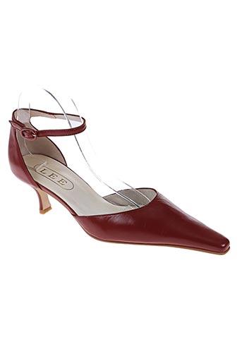 lee chaussures femme de couleur marron