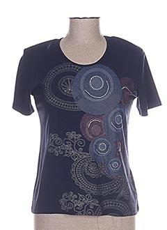 T-shirt manches courtes bleu BLUE MONDE pour femme