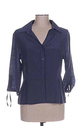 halogene chemises femme de couleur bleu