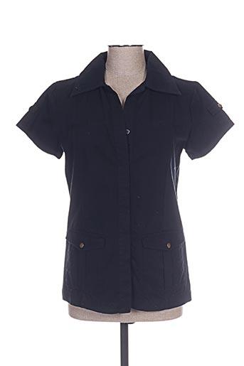 enzo chemises femme de couleur noir
