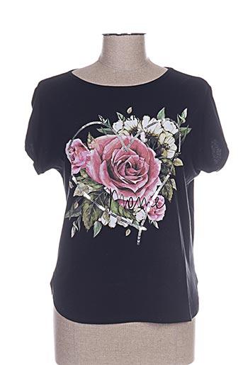 T-shirt manches courtes noir CAMISETAS pour femme
