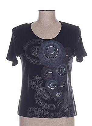T-shirt manches courtes noir BLUE MONDE pour femme