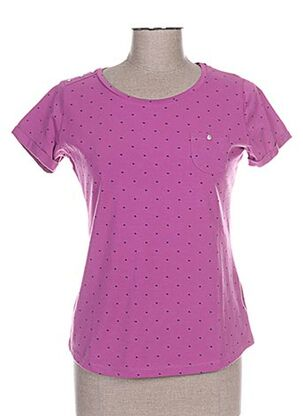 T-shirt manches courtes rose CAMISETAS pour femme