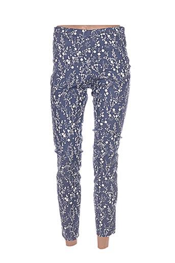 Pantalon casual bleu FARUK pour femme