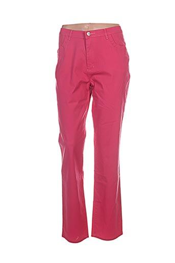 i.quing pantalons femme de couleur rose