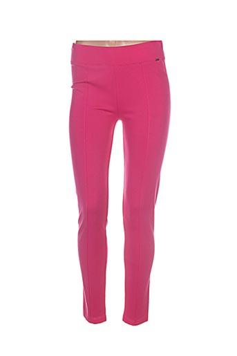 ferrache pantalons femme de couleur rose
