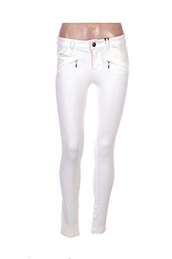 lina pantalons femme de couleur beige