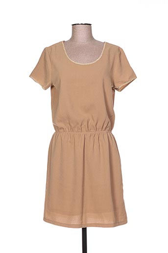 Robe courte marron ANDY & LUCY pour femme