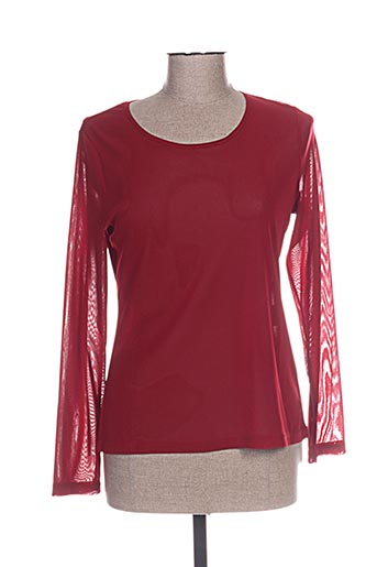 pause cafe chemises femme de couleur rouge