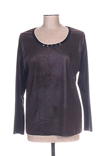pause cafe t-shirts femme de couleur marron