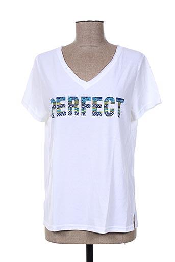 atelier jad t-shirts femme de couleur blanc