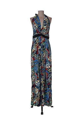 jane wood robes femme de couleur bleu