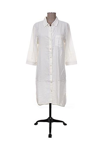 ichi robes femme de couleur blanc